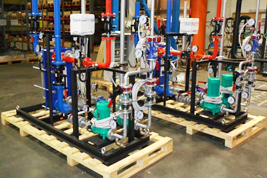 Модули смешенной системы ГВС на базе моноблочного теплообменника