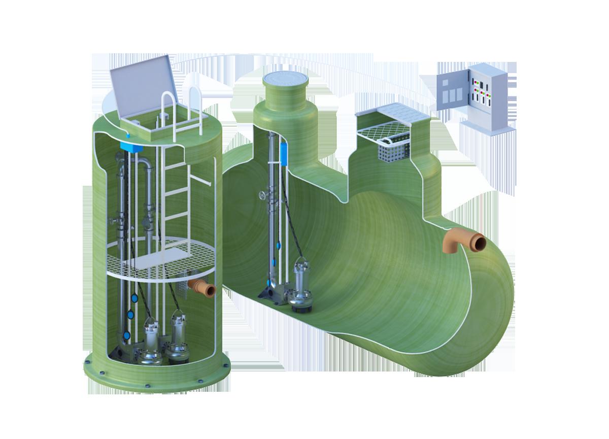 Канализационные насосные станции БПО-КНС, ливневые стоки, промышленные стоки, канализация