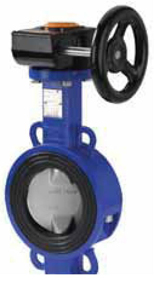 SwissfluidДисковый поворотный затвор серии SBЕ с мягким седловым уплотнением
