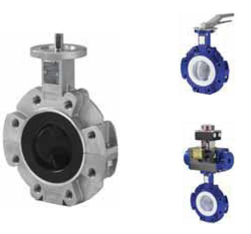 Swissfluid Дисковый поворотный затвор серии SBP футерованный пластомерами