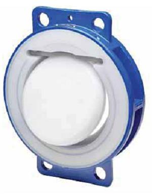 Межфланцевый обратный клапан Swissfluid серии SSC футерованный пластомерами