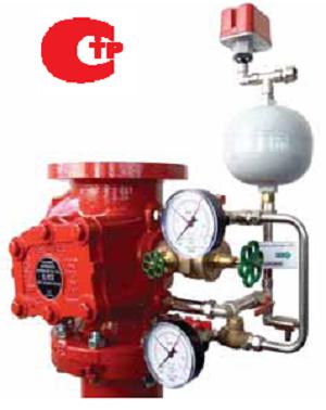 Клапан спринклерный модель E DN 150 в комплекте с обвязкой, замедляющей камерой, сигнализатором давления модель EPS10-2.