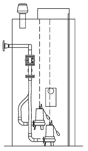 Канализационная насосная станция БПО-КНС исполнение -Эконом