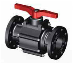 Шаровый кран SAFI серии 1003, разборное соединение, муфта с внутренней трубной цилиндрической резьбой BSP, материал — GRPP