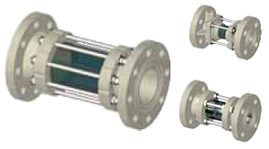 Смотровое стекло SAFI  серии  2043 с фланцами DIN, материал — PVDF
