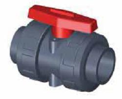 Шаровый кран SAFI серии 3101, разборное соединение, муфта PVC для клеевого соединения (стандарт DIN), материал — UPVC