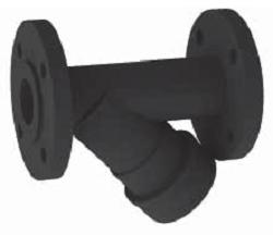 Фильтр фланцевый SAFI, материал — UPVC, уплотнения из EDPM или FKM