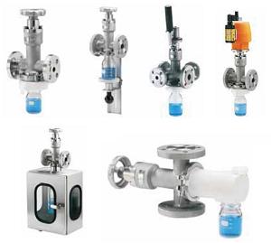 Исполнение клапана Swissfluid   серии SIV-SS с коллектором пробы