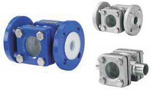 Смотровое стекло Swissfluid (Швейцария) серий SSP/SST (из нержавеющей стали), футерованное пластомерами DN 15–150 SSP-100/16-300D-G10-A85  WCB, DN 100, PN 1,6 МПа, PFA