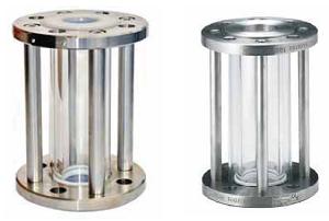 Цилиндрическое смотровое стекло Swissfluid (Швейцария) серий SSP-T/SST-T (из нержавеющей стали), футерованное пластомерами DN 15–150