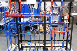 Модуль зависимой системы отопления совмещенный с модулем ввода