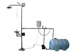 Комбинированный аварийный душ с запасом воды